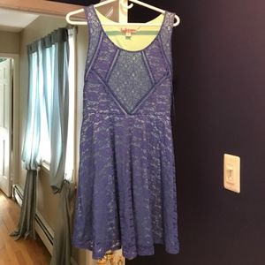 Candies Blue Lace Dress Size Medium NWOT